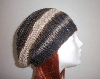 Women beret knit in 100% wool