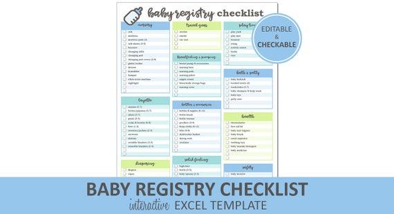 printable baby registry checklist