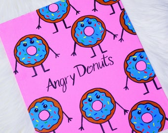 Blue Angry Donut