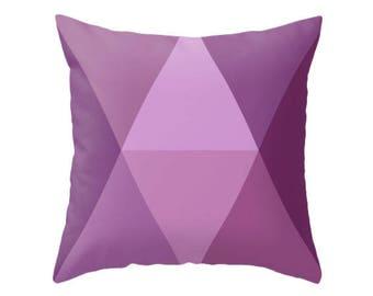 Ultra violet new 2018 Pantone color pillow Purple Geometric cushion Scandinavian cushion Scandi cushion aubergine pillow purple cushion