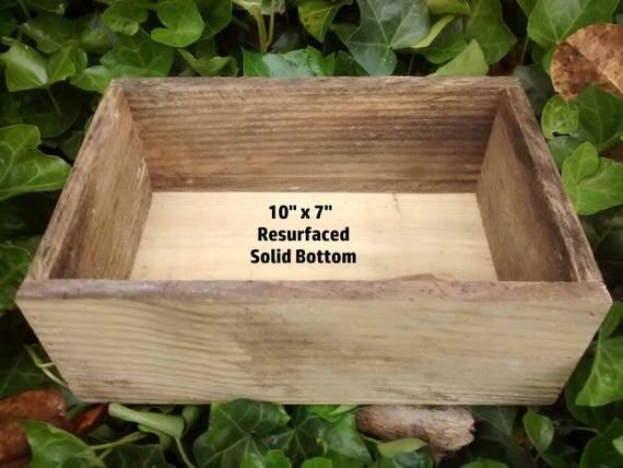 """Repurposed Wood Crate, 10"""" x 7"""" x 4"""" Wood Box"""