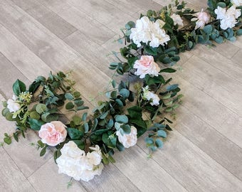 Eucalyptus Garland, Flower Garland, Floral Garland, Wedding Garland, Silk Flower Garland, Wedding Flower Garland, Silk Flowers, Garland