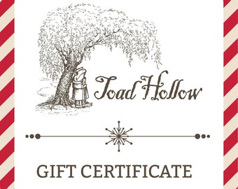 Gift Certificate to Toad Hollow