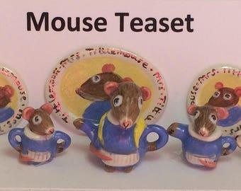Mouse Teaset (Dollshouse)