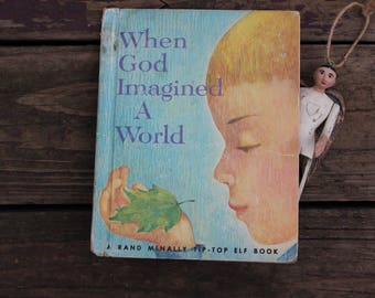 Rand McNally First Religious Book,  8699, When God Imagined a World, Jean Richards & June Goldsborough, Mary Alice Jones