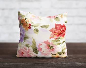 PillowCase Floral Throw Pillow Cover Luxury Pillow Toss Silk Pillow Case Cute Flower Cushion Satin PillowCase Sofa Home Decor Her Gift Mom