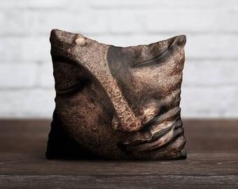 Bronze Buddha PillowCase Yoga Pillow Cover Luxury Pillow Case Toss Pillow Silk PillowCase Cushion Satin Throw Pillow Cover Modern Home Decor