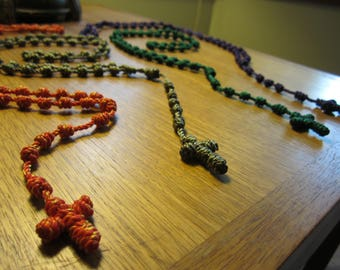 Knotted Rosary - multiple colors available