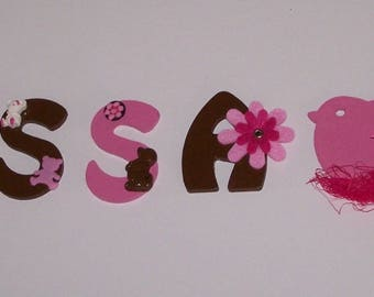 Fully customizable wooden decor name