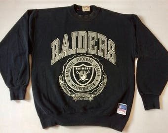 Rare Vintage LA Los Angeles Raiders 1990s Sweatshirt Size XL
