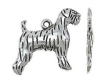 15 Airedale Dog Canine Pet Tibetan Silver Charms (026)
