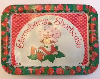 Strawberry Shortcake Vintage TV Tray Serving Tray American Greeting Corporation 1981