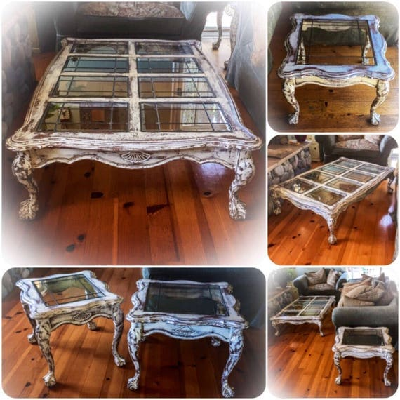 French Provincial Coffee Table Set: 3 Piece Matching Coffee Table Set French Provincial