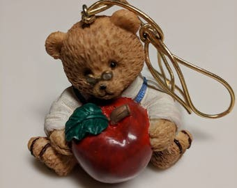 Vintage Teacher Bear Ornament