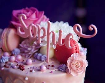 Acrylic cake topper Etsy UK