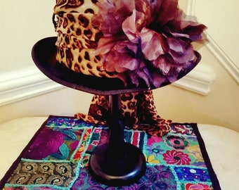 Black Top Hat Stevie Nicks Inspired - LARGE