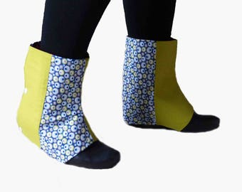 Reversible cotton leggings