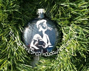 Phish glass Christmas ornament Mike Gordon black glitter