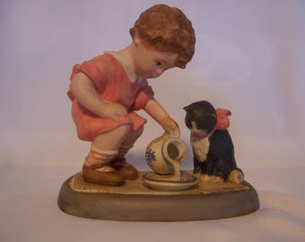 Lenox Feeding Kitty Figurine
