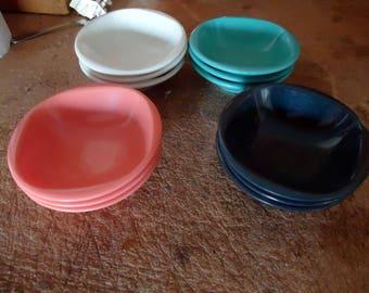 VTG Boontonware 12 Melamine/Melmac Cereal Bowls