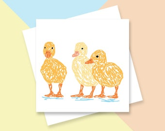 Ducklings greetings card