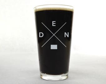 Denver Glass | Denver Pint Glass - Beer Glass - Pint Glass - Beer Glasses - Pint Glasses - Beer Mug - Denver Glass