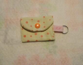 Mini coin purse or token holder, key chain