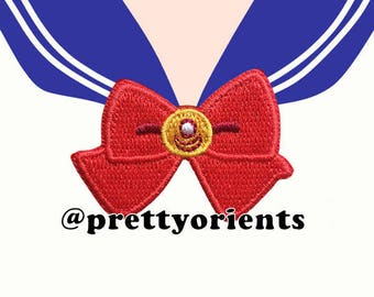 Sailor Moon Patch Iron on Patch Embroidered Patch Sailormoon Sailor Moon Transformation Brooch, deco, decoden for iphone case
