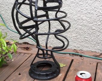 Vintage welded steel head/ hat stand?