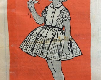Mail order 4905 vintage 1950's girls dress sewing pattern size 10