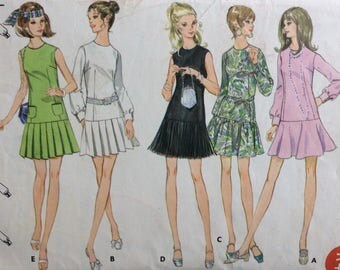 Butterick 5672 misses dress size 10 bust 32 1/2 vintage 1970's sewing pattern