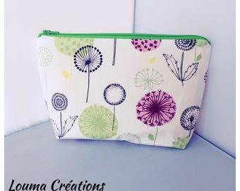 Make-up pouch cotton floral color