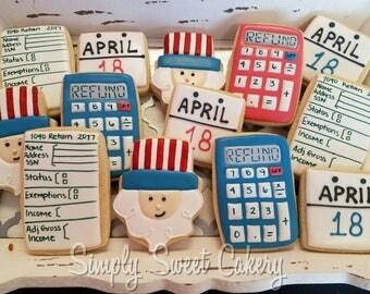 Tax Day Sugar Cookies/uncle sam/accountant