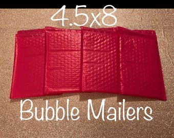 "SHIPS FREE!! 10 4.5""x 8"" Hot Pink Bubble Mailers Size 000 Self Sealing Shipping Envelopes Valentine Spring Easter"