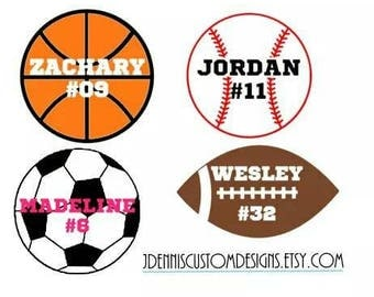 Custom Car Decals Etsy - Custom car decals baseball