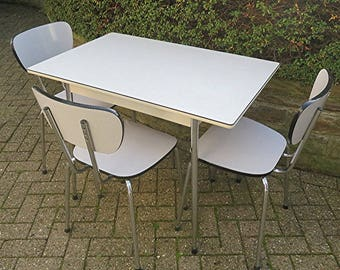 Vintage Kitchen Table With Formica Tabletop And Chrome Legs From The 60s