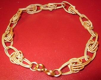 Vintage Eighties Textured Metal looking bracelet