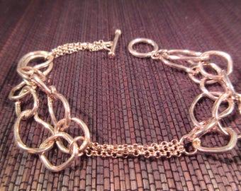 Boho Sterling Silver Bracelet