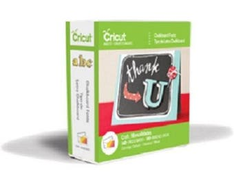 CHALKBOARD FONTS Cricut Cartridge (New Format) ~  Factory Sealed & Ready to Ship.  Works with ALL Cricut Machines!