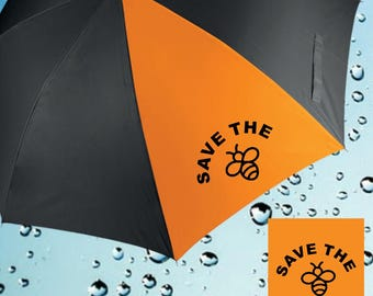 Save the Bees Printed Auto Opening Golf Umbrella