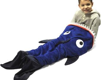 childs christmas gift shark sleeping bagblanket gift for