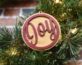 Family Ornament Personalize - Personalized Christmas Ornament - Joy to the World - Family Christmas Ornament - First Christmas Ornament