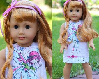 Doll dress for 18 inch dolls, fits like American Girl Dolls .