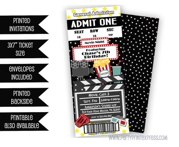 Il_570xn  Party Ticket Invitations
