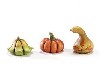 Fairy Garden  - Harvest Gourds Set of 3 - Miniature