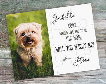 Personalized Puzzle with Custom Photo and Custom Text - Custom Marriage Proposal Puzzle - Surprise Puzzle - Will You Marry Me Puzzle