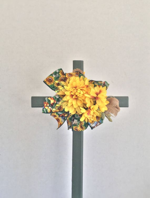 Cemetery Cross, Grave flowers, Roadside Memorial, Grave Marker, Memorial Cross,
