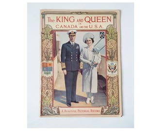 The King And Queen In Canada & the USA Vintage Booklet Book 1939 George VI Elizabeth 50pgs British Royal Family Monarchy Royalty Memorabilia