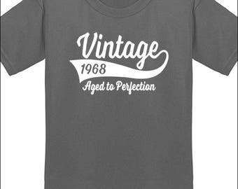 50th Birthday T Shirt Vintage 1968 T-Shirt Milestone Birthday Party Gift
