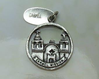 Vintage Sterling Silver Carmel Mission Charm